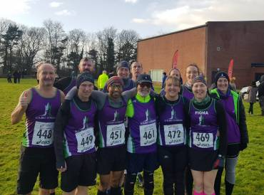 A First Place, Cross Country Addicts And a Team af Santas at Scrabo Striders