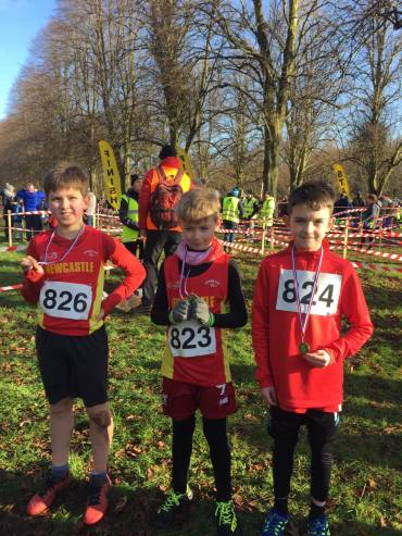 Newcastle AC Juniors Success at Stormont Cross Country