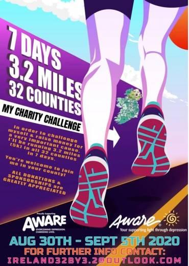 Run ThirtyTwo – 7 Days, 3.2 Miles, 32 Counties