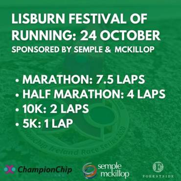 Championchip Race Place Giveaway – Lisburn Festival of Running