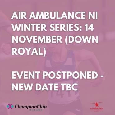 Air Ambulance NI Winter Series: 14 November – EVENT POSTPONED